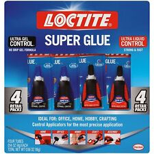 Loctite Super Glue 1 Ultragel Control and 2 Ultra Liquid Control.
