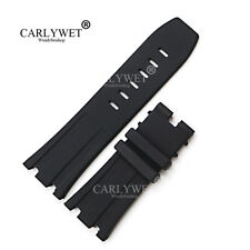 28mm Black Waterproof Silicone Rubber Watch Band For 42mm AP Royal Offshore