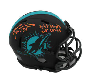 Ricky Williams Signed Miami Dolphins Speed Eclipse Mini Helmet w- Blunts/Carries