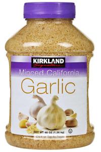 KIRKLAND Minced California 'Garlic' gehackter Knoblauch 1360 gr Orginal aus USA
