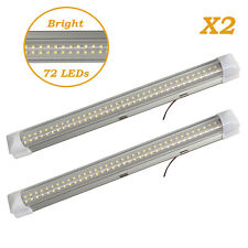 72LEDs Interior Light Bar Strips Switch White RV Caravan Kitchen Cabinet Ceiling