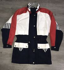 Vintage Nautical Jacket Colorblock Current Seen Small Red White Blue