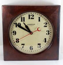 Rare Vintage Hammond Schoolhouse Railroad Station Clock w/ Sweep Quartz Movement