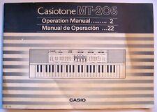 Casio MT-205 Casiotone Keyboard Original User's Operating Owner's Manual MT205