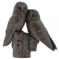 Border Fine Arts Studio Bronze Pair Of Owls Figurine New Boxed A28860