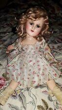 "Vintage Sonja Henie 14"" Composition Doll Original Dress and Wig"