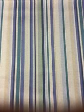 Blue And Teal Stripe Fabric By The Metre