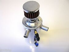 Alloy 0.6L Oil Catch Tank, 15mm Fittings (Lightweight Can) with Breather Filter