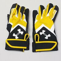 Under Armour Youth Gloves Black Yellow YLG