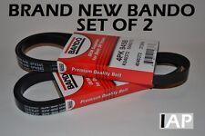 BRAND NEW SET OF 2 BANDO Serpentine-Belt A/C-Belt Alternator-Belt 4PK945B