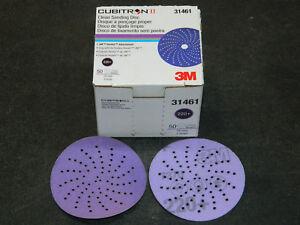 "NEW 3M 31461 CUBITRON II CLEAN 3"" SANDING HOOKIT ABRASIVE DISC 220+ GRADE GRIT"
