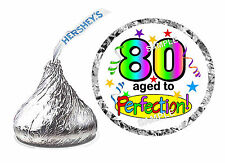 216 ~ 80th BIRTHDAY PARTY FAVORS HERSHEY KISS KISSES LABELS Design #2