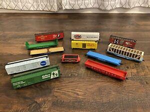 Vintage Lot of Bachmann Thunderbolt Disney TYCO HO Scale Lifelike Train Cars