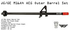 JG GE M16 M16A4 Airsoft AEG Outer Barrel Triangle Front Sight Orange Flash Hider