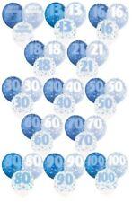 Palloncini blu rotondi compleanno adulto per feste e party