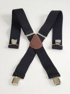 "Carhartt Utility Work Adjustable Clip-on Suspenders 52"" L x 2"" W Black New 45002"