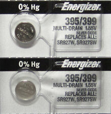 2 Energizer 395 Watch and Calculator Batteries