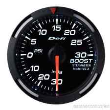 DF06503 Defi 2-1/16in White Racer Boost Gauge -30inHg to +30PSI