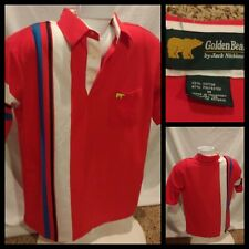 Vintage Golden Bear By Jack Nickaus Thin Red Polo Shirt Size Medium