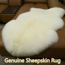 Genuine Sheepskin Fur Area Rug Fluffy Living Room Hairy Carpet 100% Natural Warm