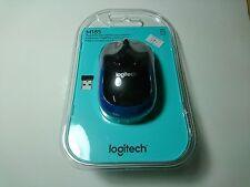 Logitech M185 Wireless Optical Mouse PC Laptop MAC Linux Black/Blue Brand New