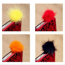 Rabbit Fur Ball Earphone Anti Dust Plug Cover 3.5mm For Cell Phone