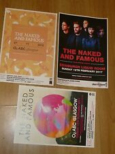 The Naked And Famous - Scottish tour concert gig posters x 3
