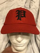 Polo Ralph Lauren Wool Gothic P Baseball Hat Cap Fitted Size Medium Red