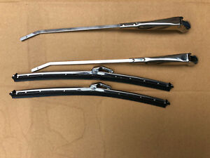 PAIR Stainless Wiper Arms & Blades Triumph Spitfire Herald, Vitesse GT6 RHD