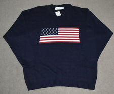 NWT American Flag New Era Acrylic Blue Knitted Pullover Sweater L USA