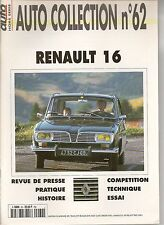 AUTO COLLECTION 62 RENAULT 16 R16