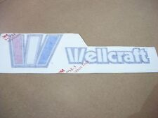 "NOS OEM WELLCRAFT BOAT 4.5"" HIGH X 16.5"" WIDE STARBOARD NAMEPLATE"