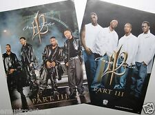 "112 ""PART III"" 2-SIDED U.S. PROMO POSTER - Atlanta Hip Hop / Rap Music Group"