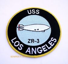 USS LOS ANGELES ZR-3 RIGID AIRSHIP US NAVY PATCH BLIMP PILOT CREW PIN UP WOW