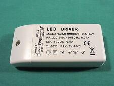alimentatore strisce striscia led 12V 6W SLIM led driver power supply 0,5A