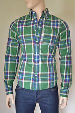 NEW Abercrombie & Fitch Adams Mountain Shirt Green Plaid Check M RRP £82
