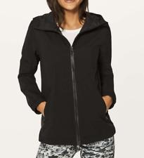 $178 NWT Lululemon Rise & Shine Jacket III Black Water/Wind Resistant Mesh sz 12