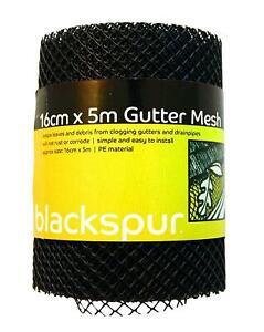 5m Black Gutter Mesh Debris Protector Moss Leaf Guard