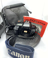 Canon EOS 1000F N Auto Focus 35mm Film SLR Body Only - Great Conditon,STRAP,BAG