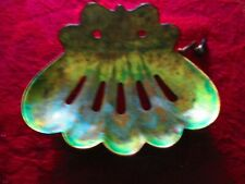 ANTIQUE  BRASS SHELL SOAP DISH OLD