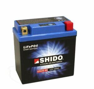 Shido LTX14L-BS LiFePO4 Motorradbatterie sicher, leicht und lange Lebensdauer
