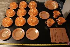 26 pieces Anchor Glass Fire King Oven Ware Dishes ~ Peach Lustre