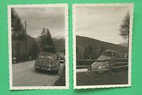2x Foto Auto Oldtimer DKW (Auto Union) 1948-56 Kennz. AB 37-7017 Bayern Dachgepä