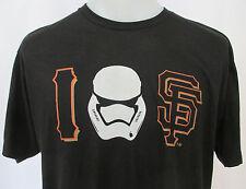 San Francisco Giants STAR WARS SGA T-Shirt Mens XL Stormtrooper I Love Heart SF