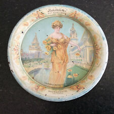 Beautiful Vintage Early 1900'S Ruhstaller'S Gilt Edge Lager Advertising Tip Tray