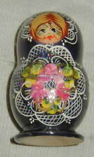 Vintage Hand Painted Wooden Russian Nesting Doll Set Of 5, Matryoshka