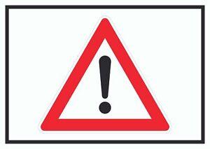 Achtung Schild Symbol  Hinweis Vorsicht