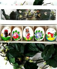 Hand Painted 5 Decorative All Season Real Egg Shell From Moravia, Czech Republic