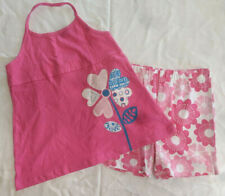 GIRLS SIZE 8 SUMMER OUTFIT ** PINK FLORAL TANK TOP & SHORT SET ** CLOTHING NEW