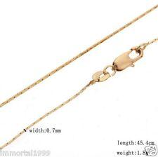 Chaines plaqué or jaune  taille 46 cm (unisexe)